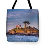 Battery Point Lighthouse Morning Tote Bag