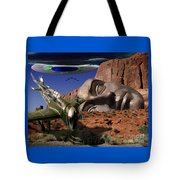 Battle For The Ancient Face Tote Bag