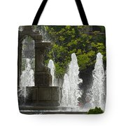 Battle Fountain Tote Bag