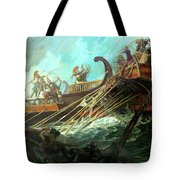Battle Of Salamis, 480 Bce Tote Bag