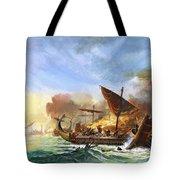 Battle Of Salamis Tote Bag