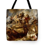 Battle Of The Amazons Tote Bag