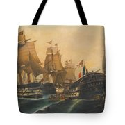Battle Of Trafalgar Tote Bag