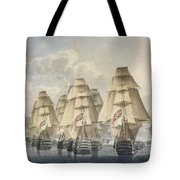 Battle Of Trafalgar Tote Bag by Robert Dodd