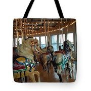 Battle Ship Cove Carousel Tote Bag