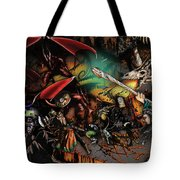 Battle With The Undead Dragon Tote Bag