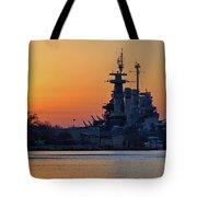 Battleship Sunset Tote Bag