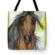 Bay Arabian Horse Watercolor Painting  Tote Bag