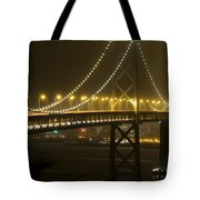 Bay Bridge Fog Tote Bag