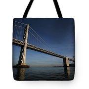 Bay Bridge Noir Tote Bag