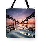 Bay Bridge Reflections Tote Bag by Jennifer Casey