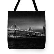 Bay Bridge Blackout Tote Bag