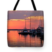Bay Bridge Sunset Tote Bag