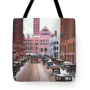 Bay Street Christmas Eve 1924 Tote Bag