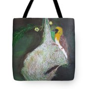 Baya Weaver At Nest Tote Bag
