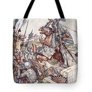 Bayard Defends The Bridge, Illustration Tote Bag