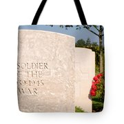 Bayeux British Cemetery Unknown Soldier Tote Bag