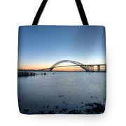 Bayonne Bridge Longe Exposure Sunset Tote Bag