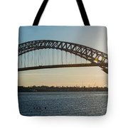 Bayonne Bridge Panoram Sunset Tote Bag