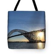 Bayonne Bridge Sunburst Tote Bag