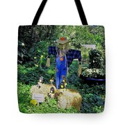 Bayou Crow Scarecrow At Bellingrath Gardens Tote Bag