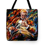 Bb King - Palette Knife Oil Painting On Canvas By Leonid Afremov Tote Bag