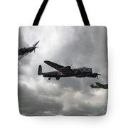 Bbmf Lancaster Spitfire Hurricane Tote Bag