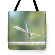 Smiling Dragonfly Tote Bag