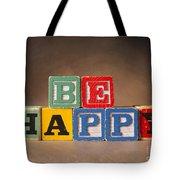 Be Happy - Jabberblocks Tote Bag