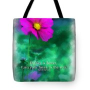 Be Like A Flower 01 Tote Bag