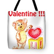 Be My Valentine Teddy Bear Tote Bag