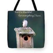 Be Thankful Tote Bag
