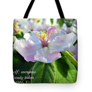 Be Yourself Flower Tote Bag