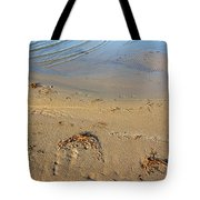 Beach And Rippled Water. Tote Bag