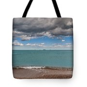 Beach And Ships. Tote Bag