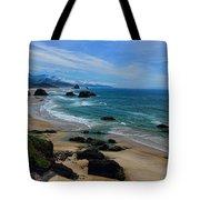 Beach At Ecola State Park Tote Bag