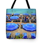 Beach At Nice France Tote Bag