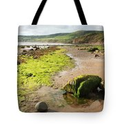 Beach At Robin Hoods Bay Tote Bag by Deborah Benbrook