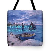 Beach At Saint Address Tote Bag