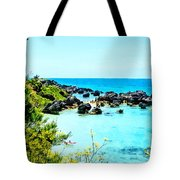 Beach At St. George Bermuda Tote Bag