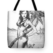 Beach Babe Model Tote Bag