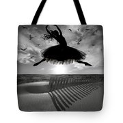Beach Ballerina Tote Bag