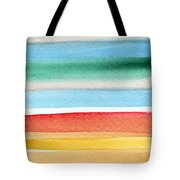 Beach Blanket- Colorful Abstract Painting Tote Bag