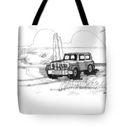 Beach Buggy Ocracoke 1970s Tote Bag