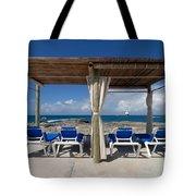 Beach Cabana With Lounge Chairs Tote Bag