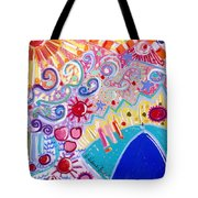 Beach Day In Wildwood Tote Bag