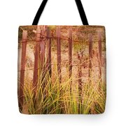 Beach Dune Fence At Cape May Nj Tote Bag