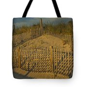 Beach Fence Tote Bag by Susan Candelario