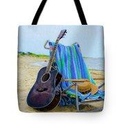 Beach Guitar Tote Bag