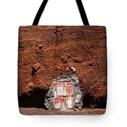 Beach Hut Santorini Style Tote Bag